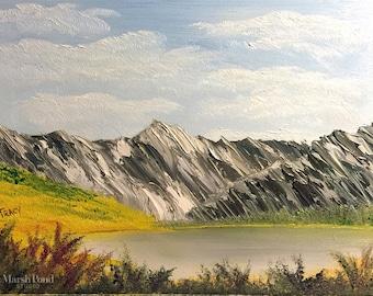 Colorado Mountain Lake in Oils