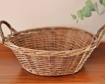 Small vintage cane basket