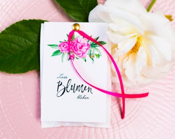 25 Cards for flower bags-let flowers bloom
