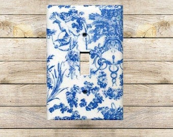 Blue Toile Switchplate