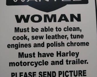 """Funny Sign - """"Woman Wanted"""""""