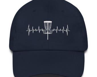 Heart beat disc golf Dad hat