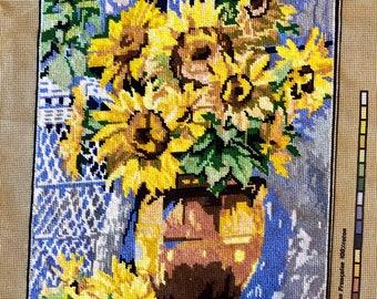 Needlepoint Tapestry - Sunflower Arrangement