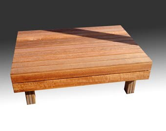 "Design Outdoor Coffee table-Model 2 with ""wooden legs""-0, 70m x 1m"