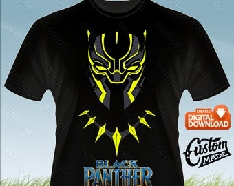 Black Panther Iron On Transfer, Black Panther Birthday Shirt DIY, Black Panther Shirt Designs, Black Panther Printable, Digital Files