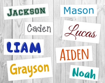 Custom Name Sticker | Vinyl Decal | FREE SHIPPING | Many colors & sizes to choose | Oracal Brand Vinyl