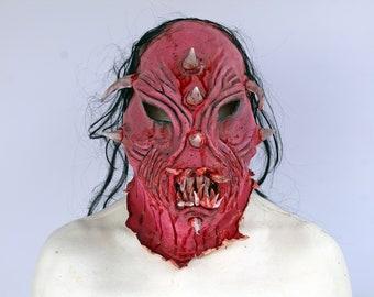 Original Scary Demonic Ghoul Latex Mask BoogeyMan Killer Skin Full Head with teeth : Ready to ship