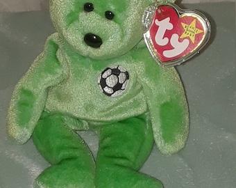 "1998 Ty Beanie Babies"" Kicks"" Bear—Rare with Tag Errors"