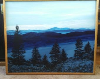 Montana Landscape Painting, 35x41. Original, Painting by Bob Werle 2018.