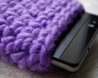 hand knit  case external disc drive cell phone iphone smartphone slip universal size