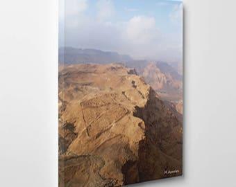 An Israeli  Masada  Landscape print