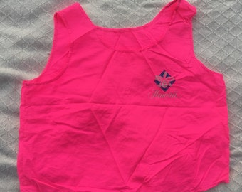 Vtg Hawaii crop top hot pink!