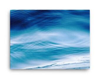 Aquamarine Waves - High Quality Canvas Print