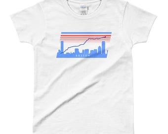 Boston Marathon women's route shirt