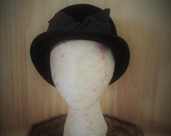 Black Velour Hat