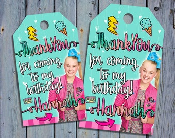 Jojo Siwa Birthday Thank You Tags, Jojo Siwa Girls Favor Tag, Nickelodeon Printable Digital Labels, Jo Jo Goody Bag Tags, Hang Label Tags