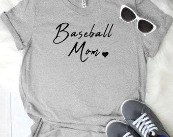 Baseball Mom Women's T Shirt UNISEX Bella Canvas Soft Style Motherhood #momlife ladies shirt mom life sports mom
