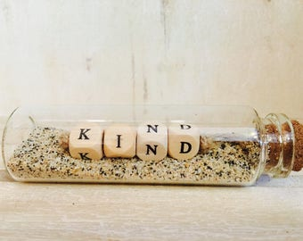 "Little message in a bottle ""KIND"""