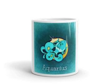 Zodiac Sign Aquarius Coffee Mug