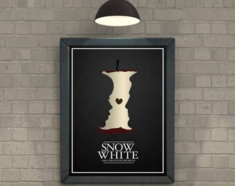 Snow White And The Seven Dwarves walt disney animations minimal poster