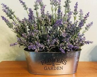 Table Arrangement, Lavender, Spring