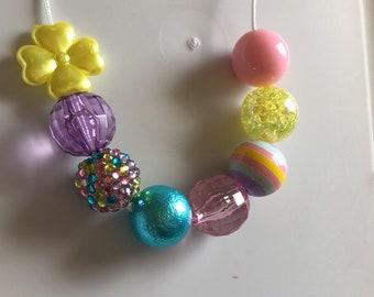 Spring Mix Chunky Bubblegum Necklace