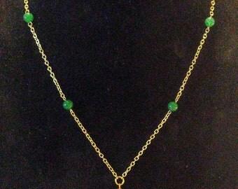 Green adventurine necklace
