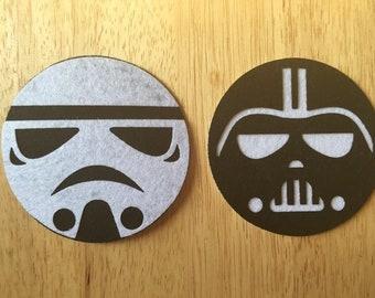 Star Wars Inspired Felt Coasters