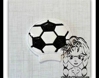 SOCCER BaLL SPoRTS Ear (Add On ~ 1 Pc) Mr Miss Mouse Ears Headband ~ In the Hoop ~ Downloadable DiGiTaL Machine Embroidery Design by Carrie