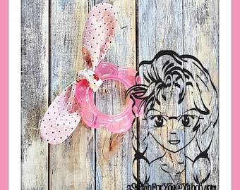 TEETHER TeeTHING RiNG BOW Knot ~ In The Hoop Headband ~ Downloadable DiGiTaL Machine Embroidery Design by Carrie