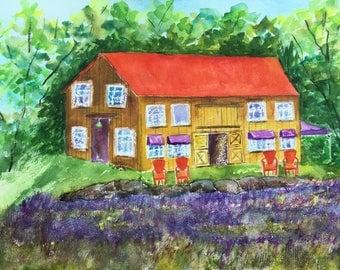 Lavender Farm Original Painting