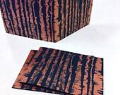 birch trees, solstice cards, metallic copper