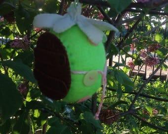 Green Hanging Wool Hobbit House Egg