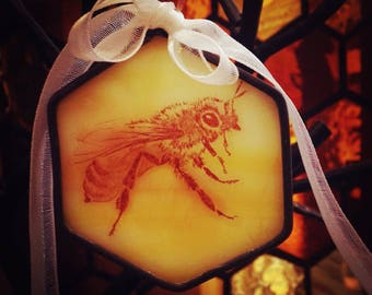 Honeybee Sun-catcher ornament