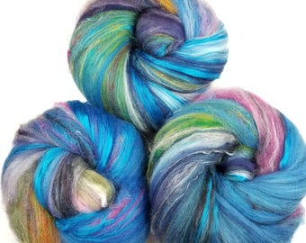 Dreamer -- classic batts -- (4.2 oz.) organic polwarth wool, bamboo, etc.