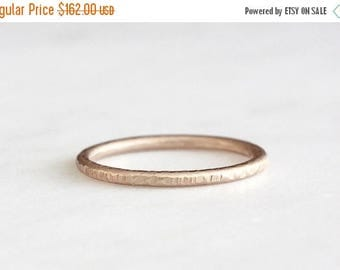 ON SALE 14k rose gold twig ring, textured band, handmade, bark texture ring, recycled wedding ring, wedding ring