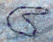 AMETHYST anklet, Amethyst jewelry, February birthstone, purple gemstone jewelry, handmade jewelry, handmade anklet, artisan jewelry