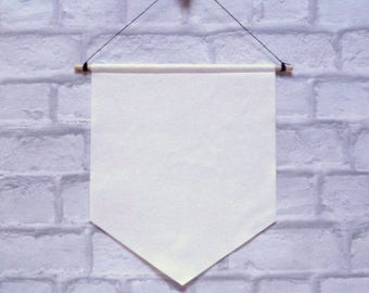 DIY felt BANNER flag for you to decorate