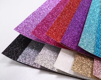 Fine Glitter Sheets or Mini Rolls Choose from 24 colours