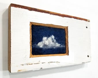 Night Clouds in white washed antique trim