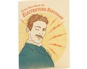 A2-155 - Nikola Tesla-  Note Card