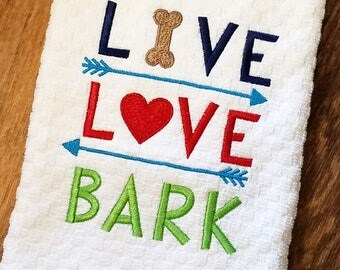 Kitchen Towel, Waffle Weave Towel, Kitchen Decor, Embroidered Kitchen Towel,  Dog Themed Gifts, Christmas Gifts, Pet Lover Decor