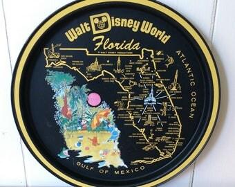 vintage Disney World Florida tray