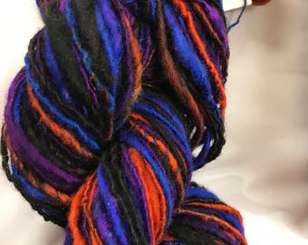 Deep Thoughts Handspun and Handdyed wool yarn
