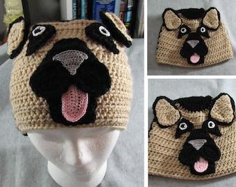 Crochet Pattern - German Shepherd Hat -Animal Hat - Dad Hat - Women's Hat - Dog Lover Gift - Shepherd Lover Gift