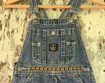 Patch Up Your Troubles Dungarees for Girls!  Size 8 Vintage Lakin & McKey Overalls