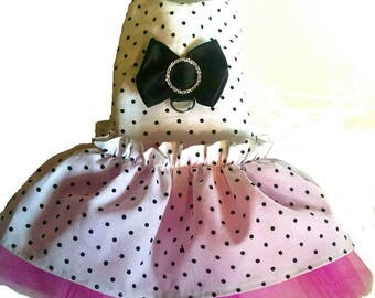 Dog harness dress for Spring Mothers Day Pretty Lady Dog clothes Chihuahuas Yorkies Pugs