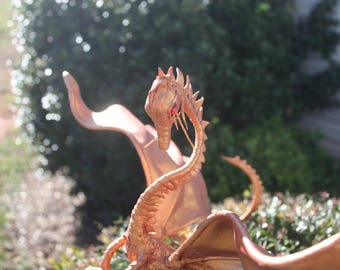 Rose Gold Leather Dragon