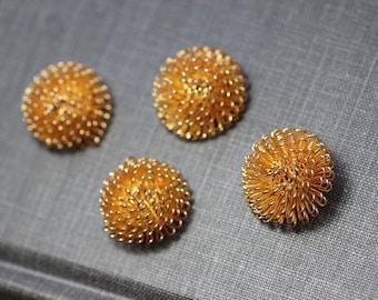 Gold Dandelion Findings Wire Dandelion Cabochons