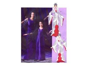 Girls Goth Fantasy Costume Dress Headdress Veil McCalls 4623 Sewing Pattern Size 7 - 8 - 10 - 12 - 14 Uncut